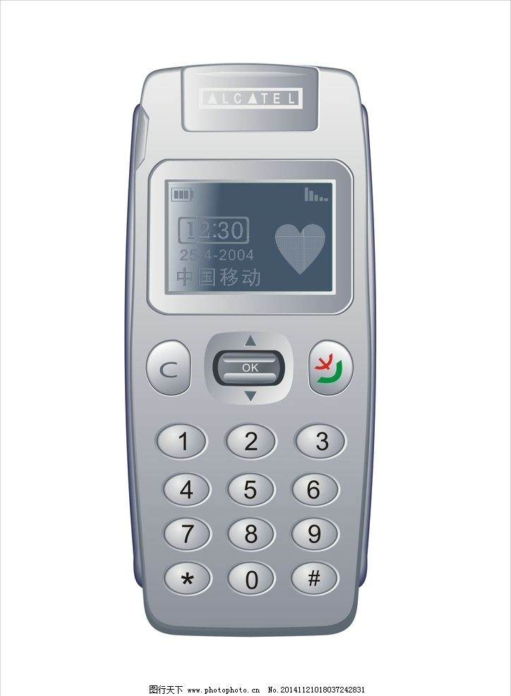 阿尔卡特 手机 按键 按钮 屏幕 中国移动 alcatel 矢量图库 设计 现代