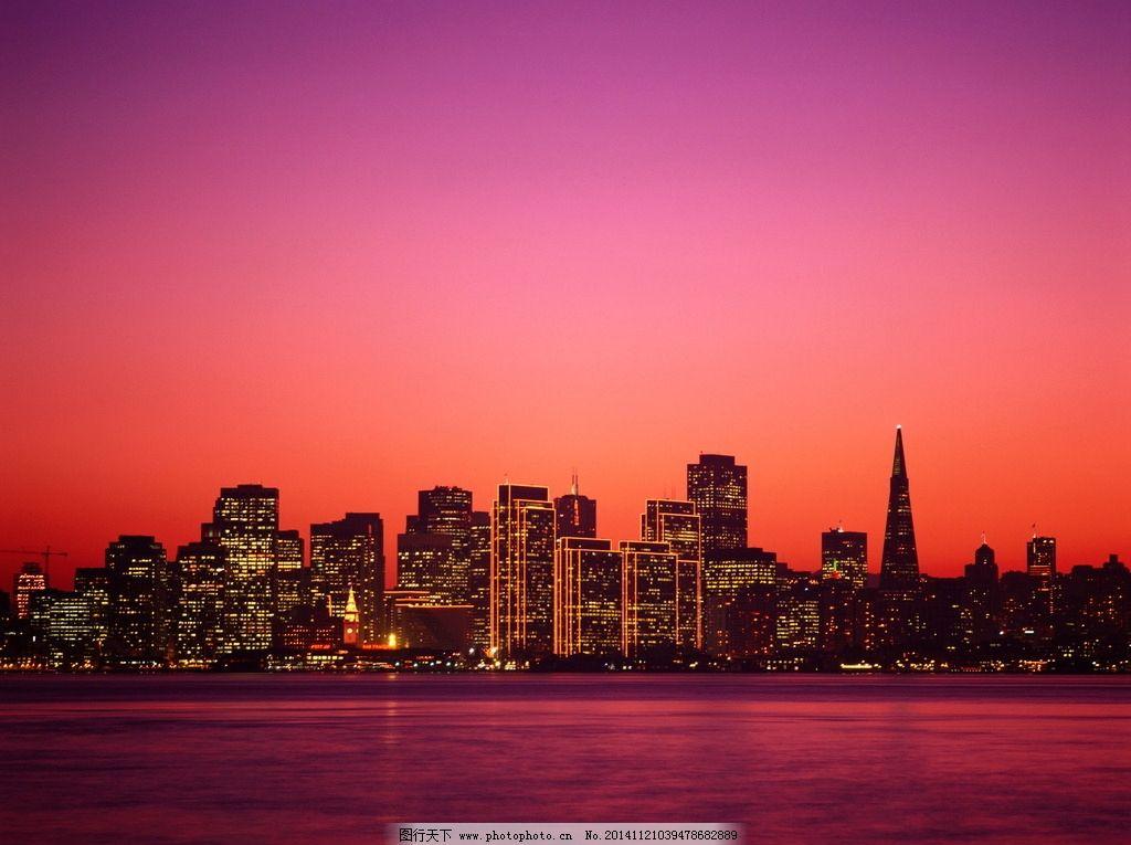 城市夜景/黄昏城市建筑美景图片
