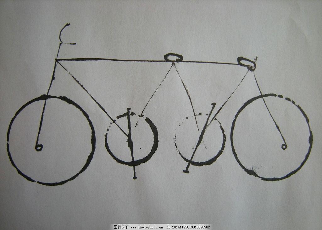 自行车绘画图片大全大图