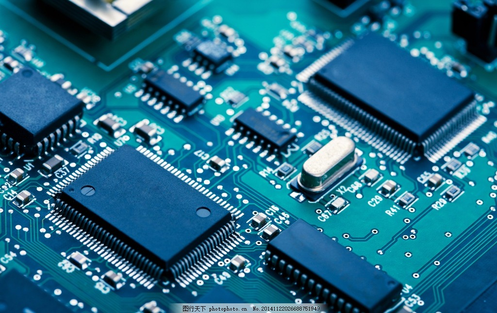 主板 电路板 pcb 电子线路板 工业科技 电子元件 电子元器件 芯片