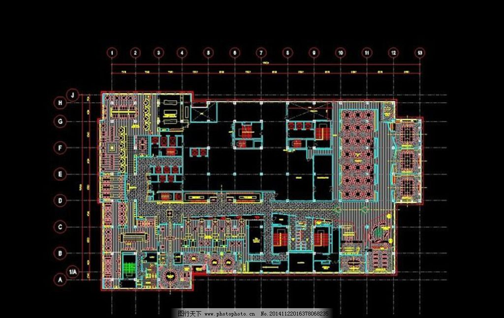 施工图 ad设计 酒店 平面图 cad平 施工图 工程图 布置图 cad结构图