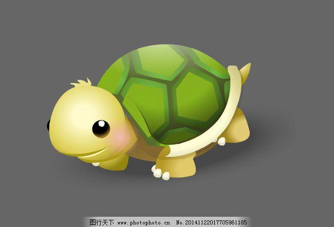 乌龟对话框卡通图片