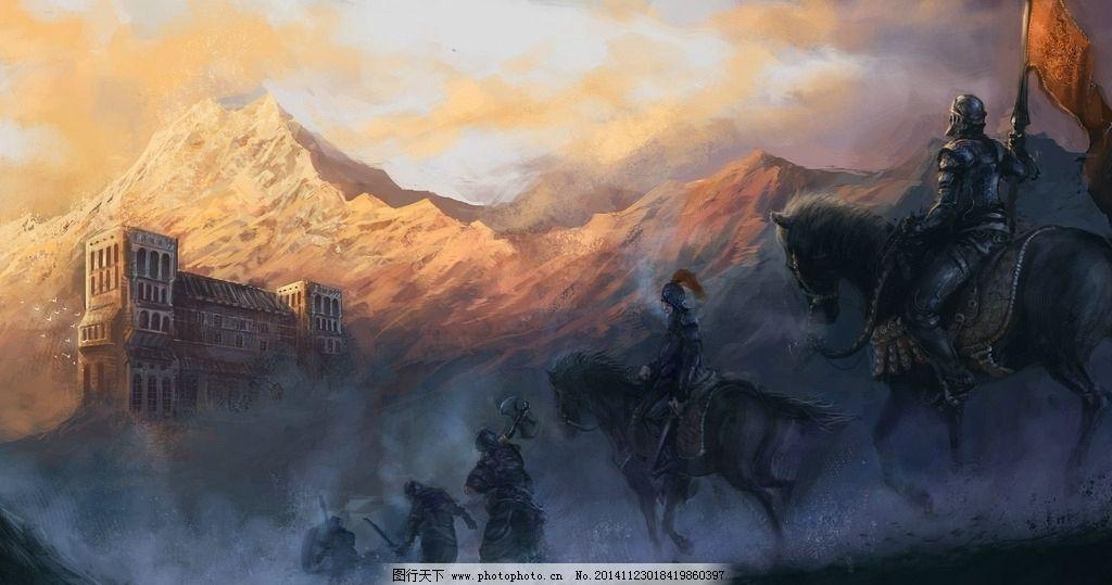 战士 游戏 原画 背景 壁纸 手绘 长征 族人 远征 骑兵 士兵 原画 设计