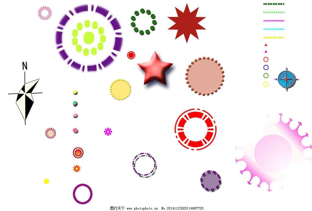 标志大全图片,分析图 圆圈 指北针 线 箭头 标志图标