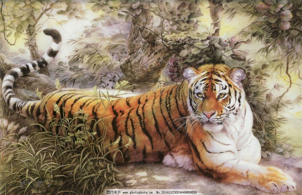 老虎 虎 虎王 油画虎 高清老虎 凶猛 设计 生物世界 野生动物 71dpi j