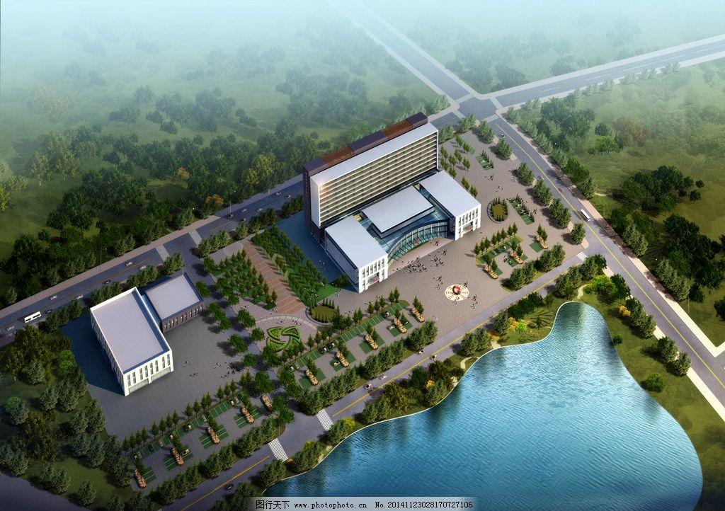 良城医院鸟瞰图图片_景观设计_环境设计_图行天下图库
