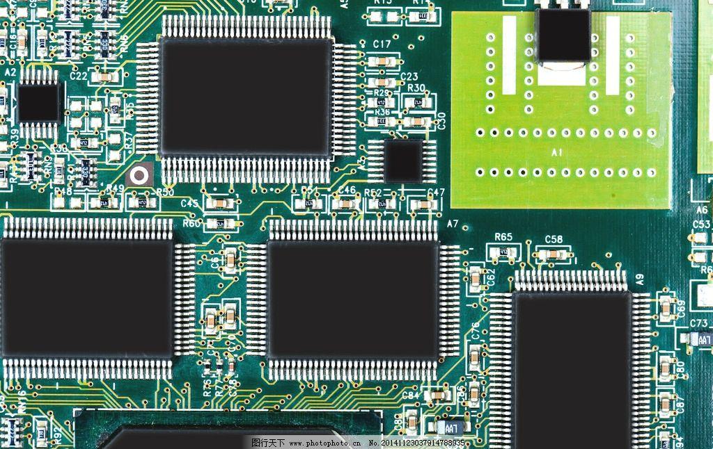 电脑主板 电路板 科技背景 芯片 集成板 线路排版 工业生产 现代科技