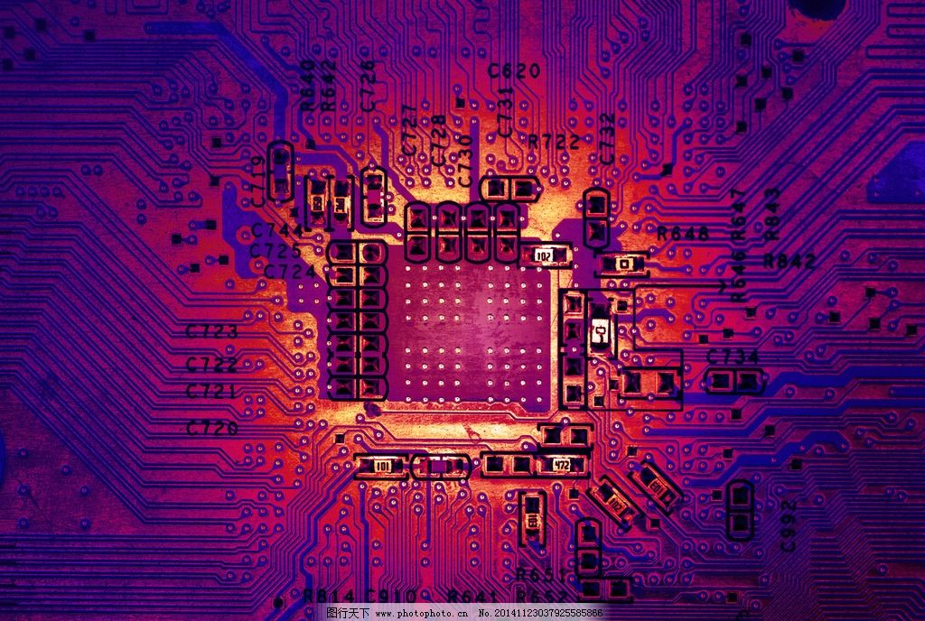电路板 电脑主板 科技背景