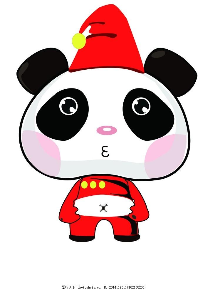 熊猫正面 熊猫 可爱 正面 红色 嘟嘟嘴 设计 动漫动画 动漫人物 300dp