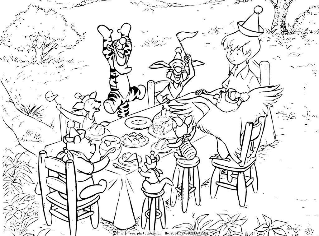 卡通原画素材 铅笔画 素描 黑白画 卡通画 动漫动画