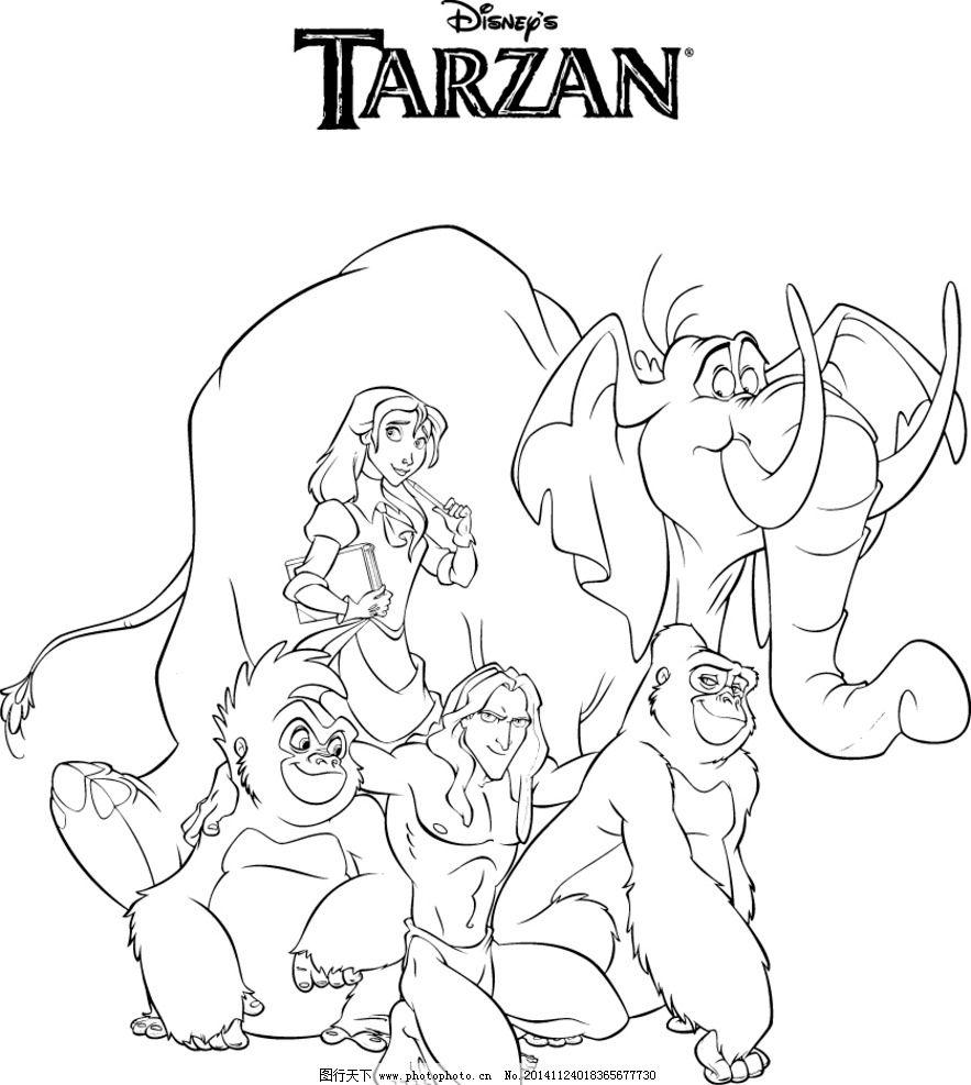 铅笔画 素描 黑白画 卡通画 卡通原画素材 设计 动漫动画 动漫人物
