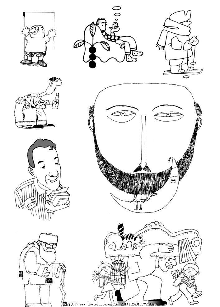 手绘黑白插图 黑白插图 手绘插图 插图 插画 人物插图 儿童插图 黑板