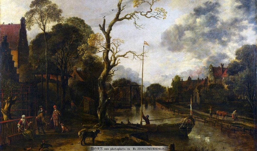 写生 外国油画 绘画 树林 草地 风景 油画 风景油画 设计 文化艺术