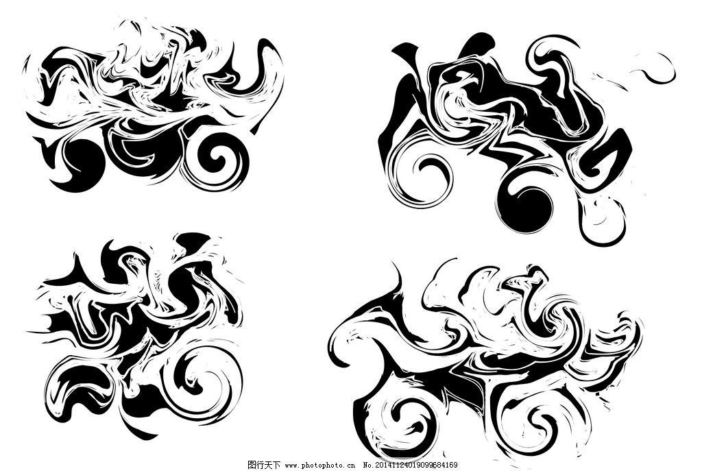涂鸦 黑白 矢量 图案 素材 设计 文化艺术 绘画书法 ai
