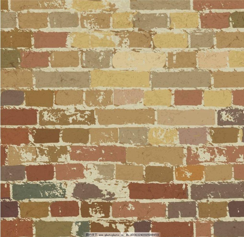 砖墙eps素材 花边花纹 古典花纹 欧式底纹 中国风底纹 矢量底纹 cdr