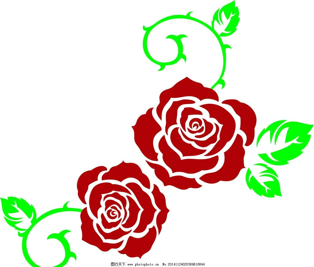 蔷薇 玫瑰 花边 花纹 藤蔓