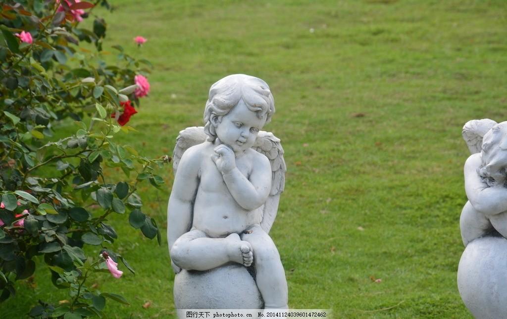欧式雕塑 欧式 雕塑 石雕 神 传说 素材 丘比特 爱神 园林 建筑 风景