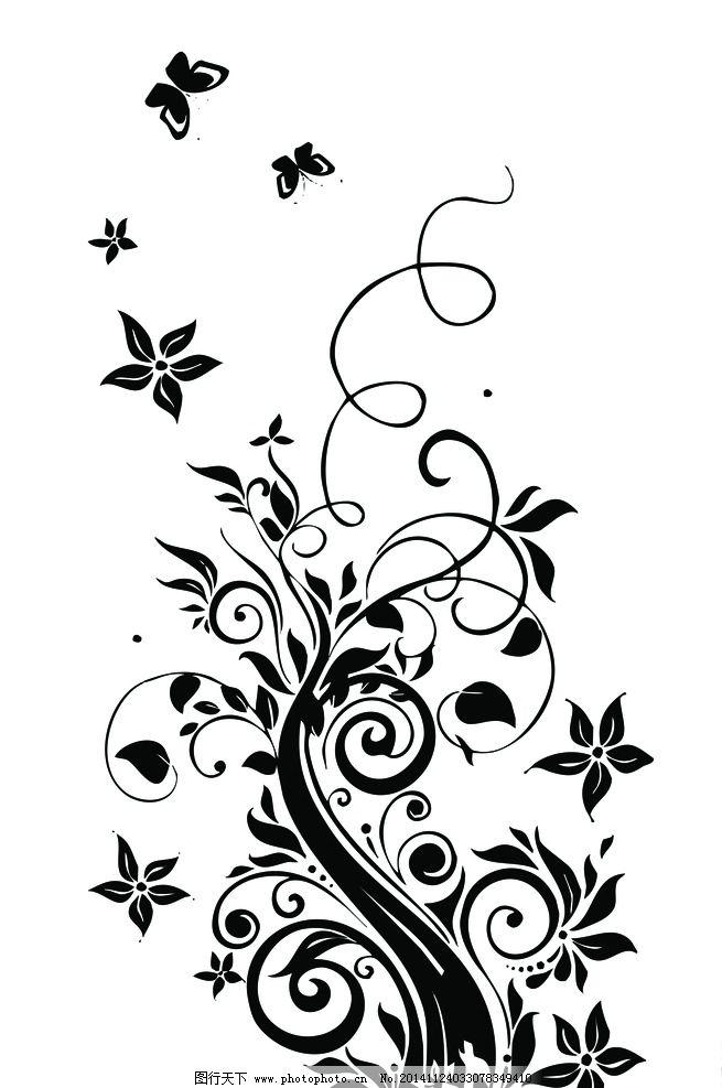 手抄报暗花 底纹 花纹 蝴蝶 插图 图纹