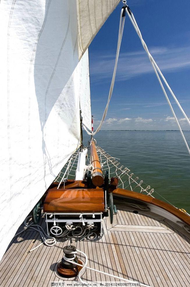 唯美帆船大海图片