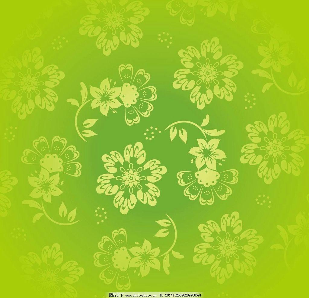 草绿欧式底纹古典花纹图片