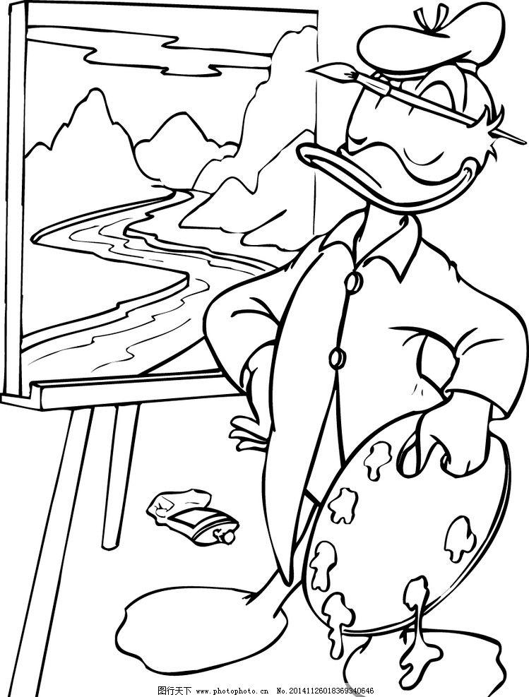 素描 卡通图库 铅笔画 卡通角色 幼儿园卡通图 矢量设计 图标 设计