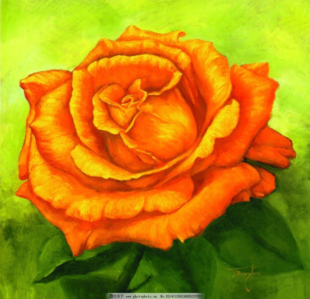 玫瑰花油画图片图片