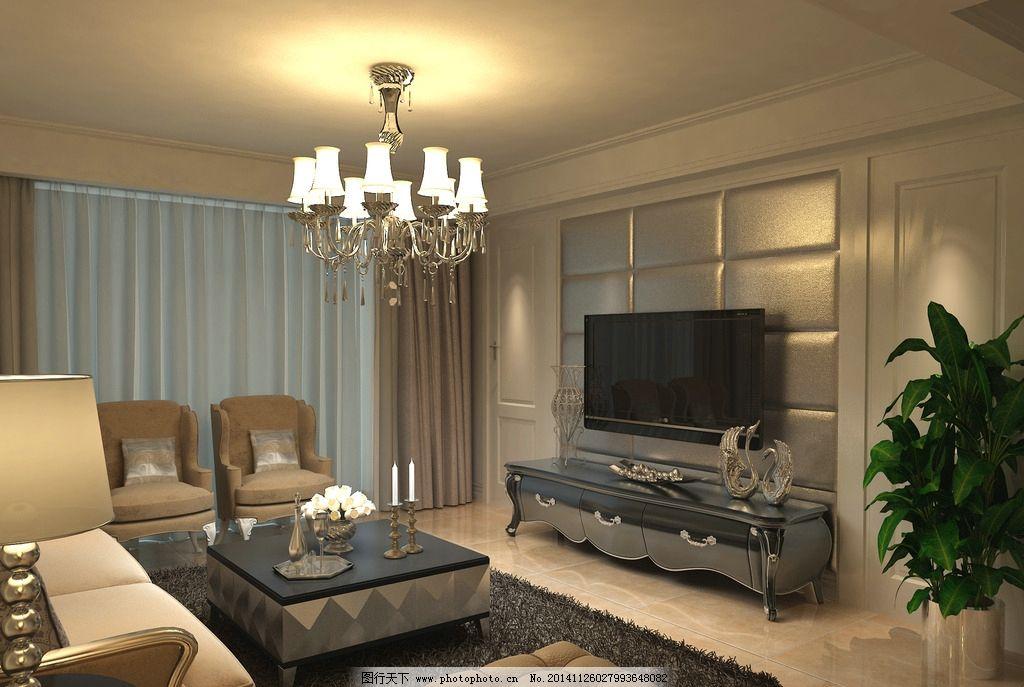 电视墙图片_室内设计_环境设计_图行天下图库
