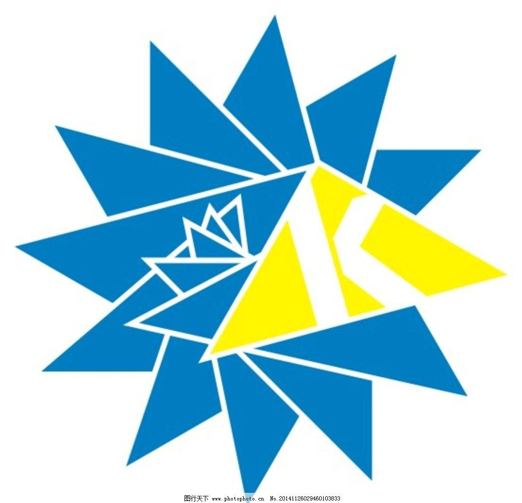 圆 蓝色 黄色 三角形      k 字母  设计 广告设计 logo设计 300dpi