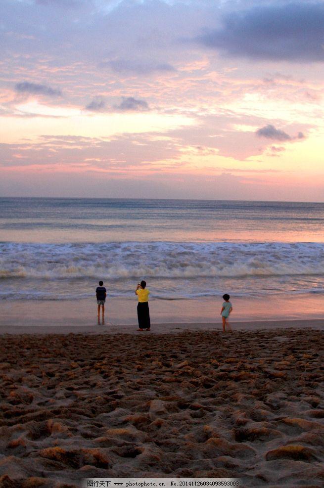 观潮 印尼 巴厘岛 旅游 海边 海浪 夕阳 逆光 彩霞 海滩 摄影