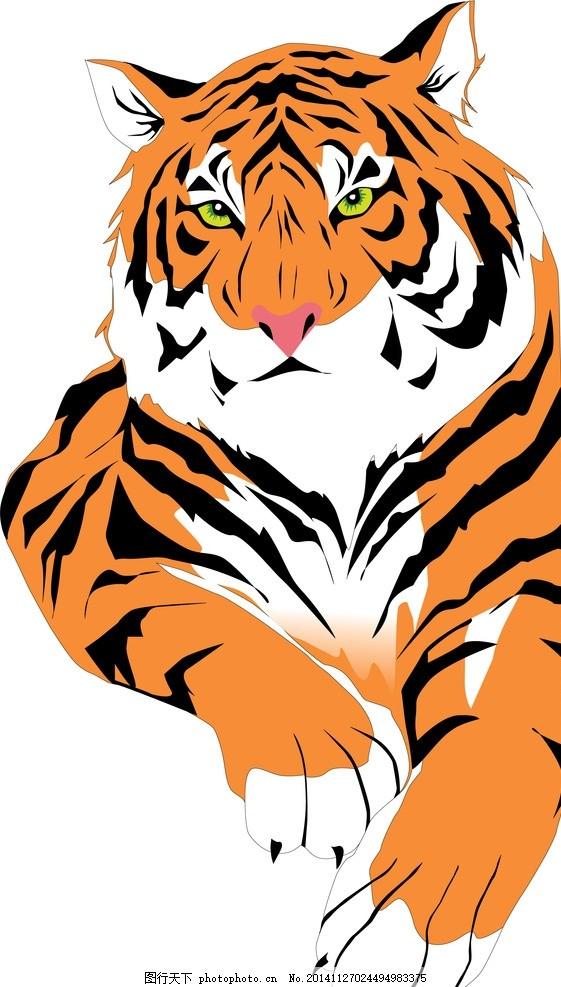 凶猛老虎 老虎写生 可爱老虎 野生动物老虎 彩色老虎画 凶猛老虎 东北