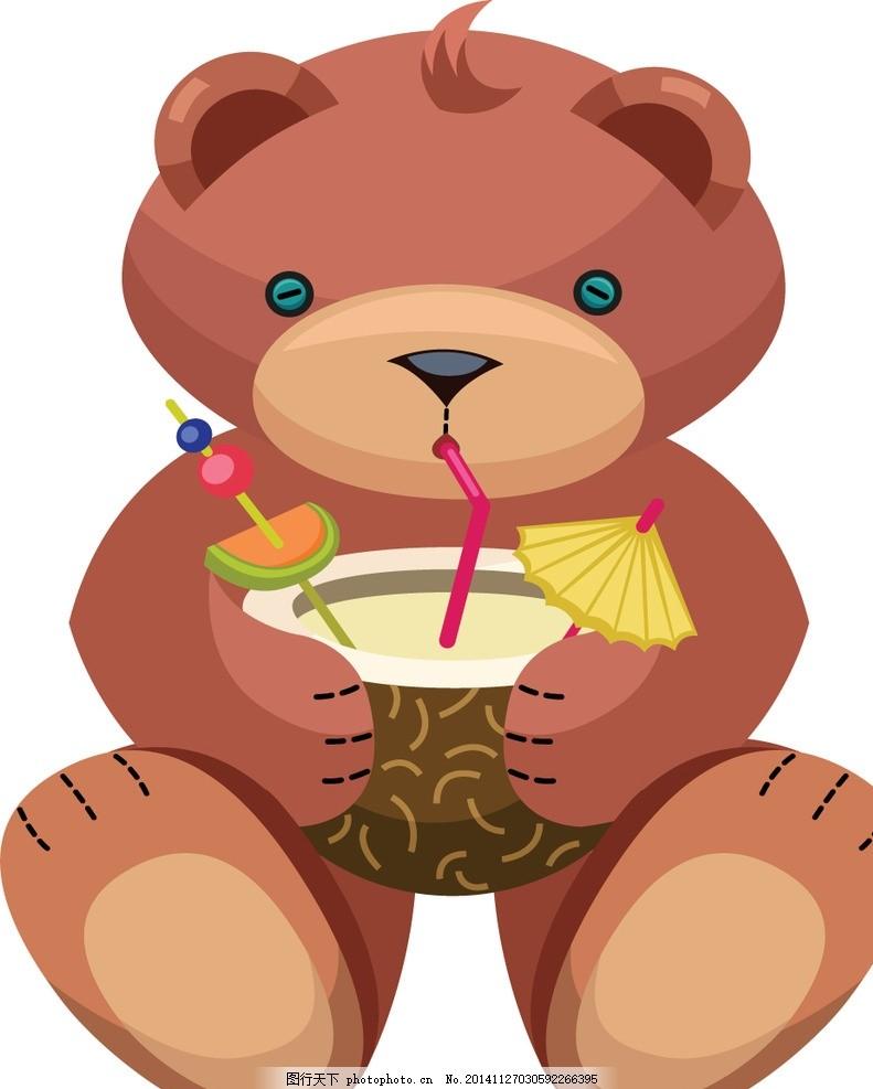 呆呆熊 吃糖果的熊 可爱小熊 卡通熊宝宝 公仔熊 呆熊卡通 玩具熊