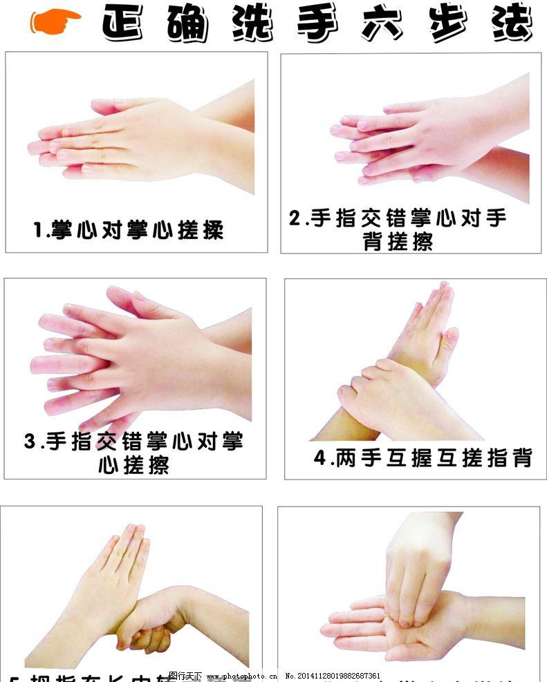 洗手 六步骤 正确洗手 大人洗手 六步法 设计 标志图标 公共标识标志