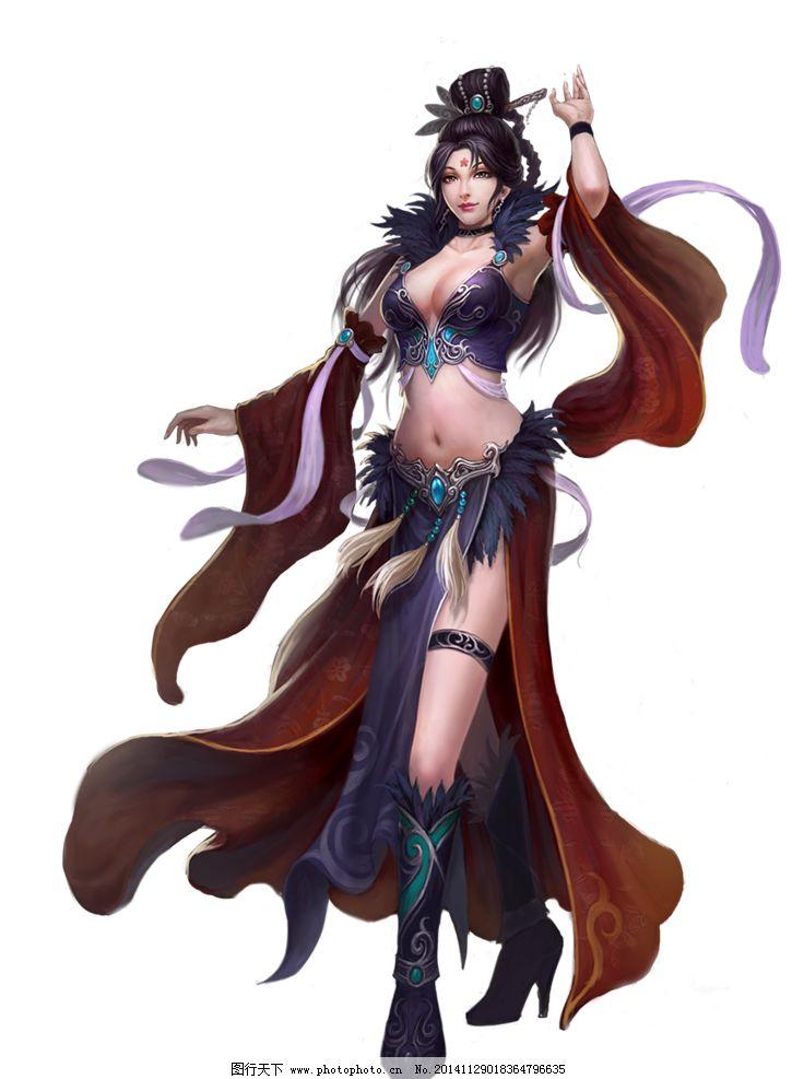 游戏原画 游戏人设 游戏人物 游戏角色 页游 大将军 三国 美女 免抠
