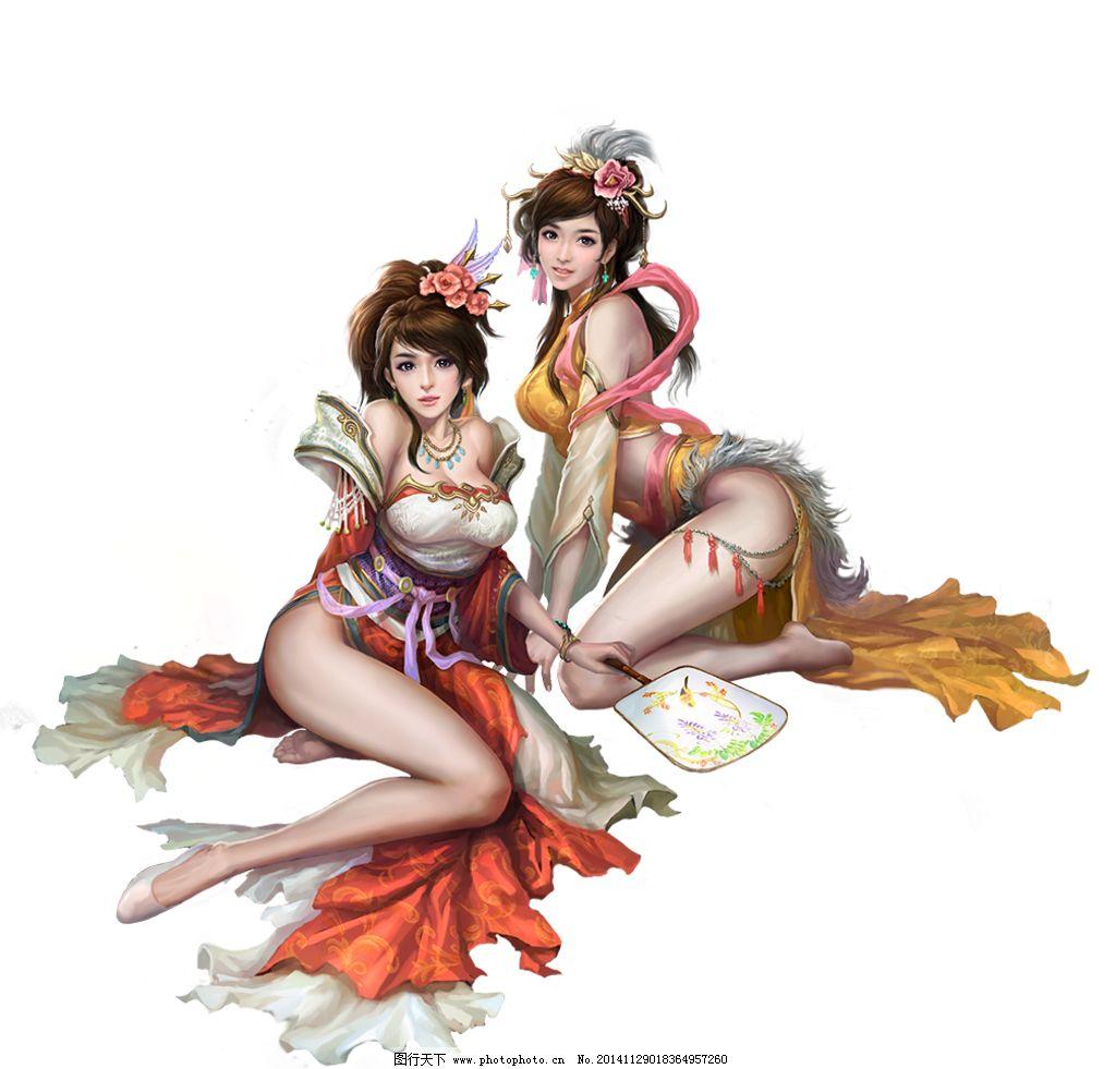 游戏人设 游戏人物 游戏角色 页游 大将军 三国 大乔 小乔 美女 古装
