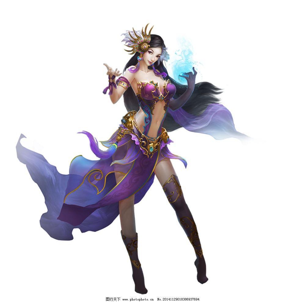 游戏原画 游戏人设 游戏人物 网络游戏 武侠 玄幻 女角色 手绘 免抠