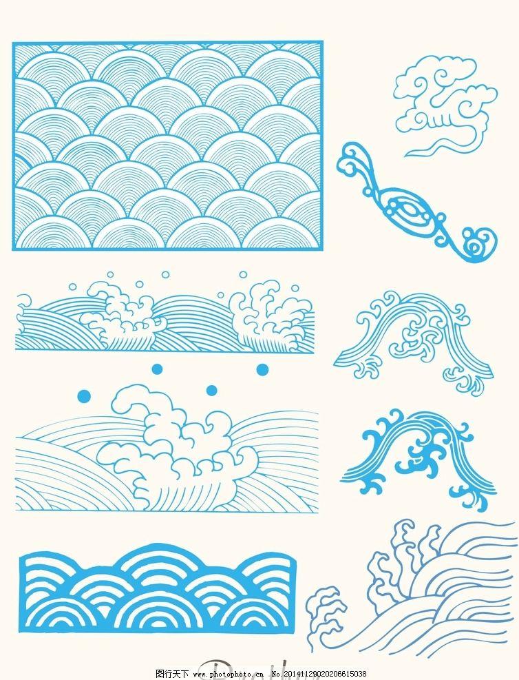 海浪简笔画边框
