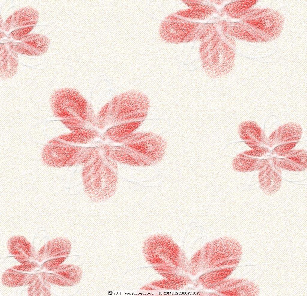 手绘粉色五瓣花背景图片