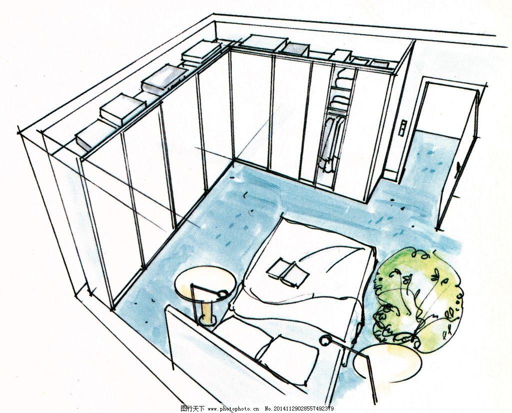 卧室效果图 室内效果图 衣柜 卧室设计 手绘效果图 室内设计 设计 300