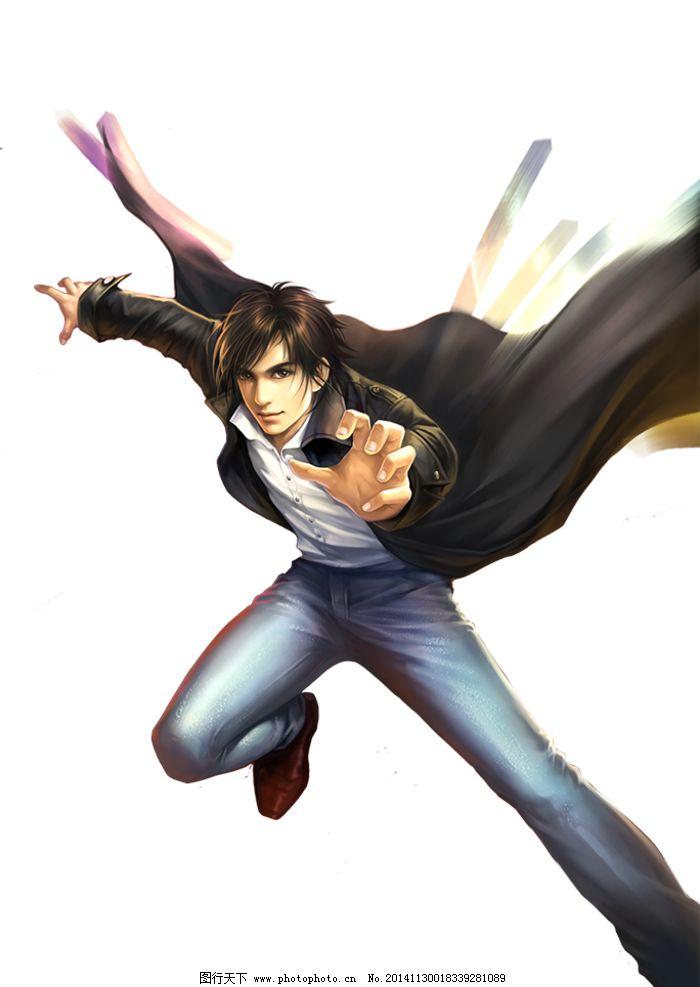 游戏原画 人设 角色 男子 手绘 动作 免抠 透明背景 设计 动漫动画
