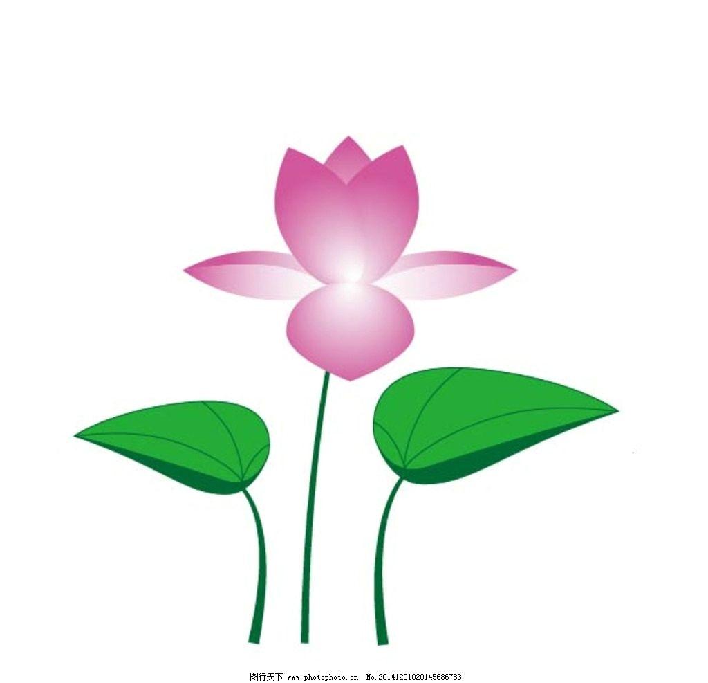 手绘粉色荷花图片,荷叶 荷花素材 花叶 广告设计 卡通