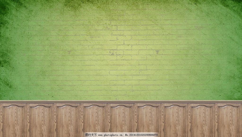 森系婚礼砖墙背景图片