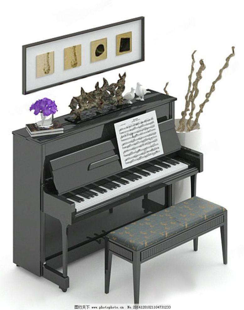 钢琴模型 钢琴 钢琴max 乐器模型 室内模型 室内max 钢琴 设计 3d设计