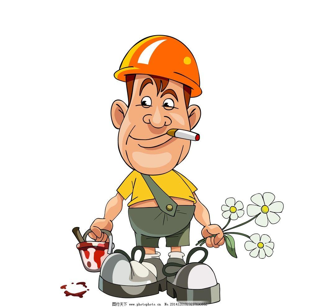 工人 油漆工 商务人物 人士 卡通人物 职业人物 矢量 eps 设计 人物图