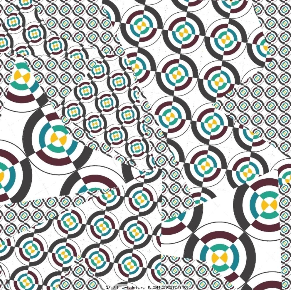 抽象风格几何印花图形 抽象几何 钉珠 烫钻 铆钉 动物图案 风景建筑
