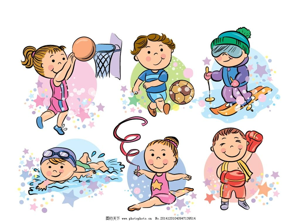 矢量 幼儿 手绘 时尚卡通 插画 卡通插画 可爱素材 卡通儿童 矢量儿童