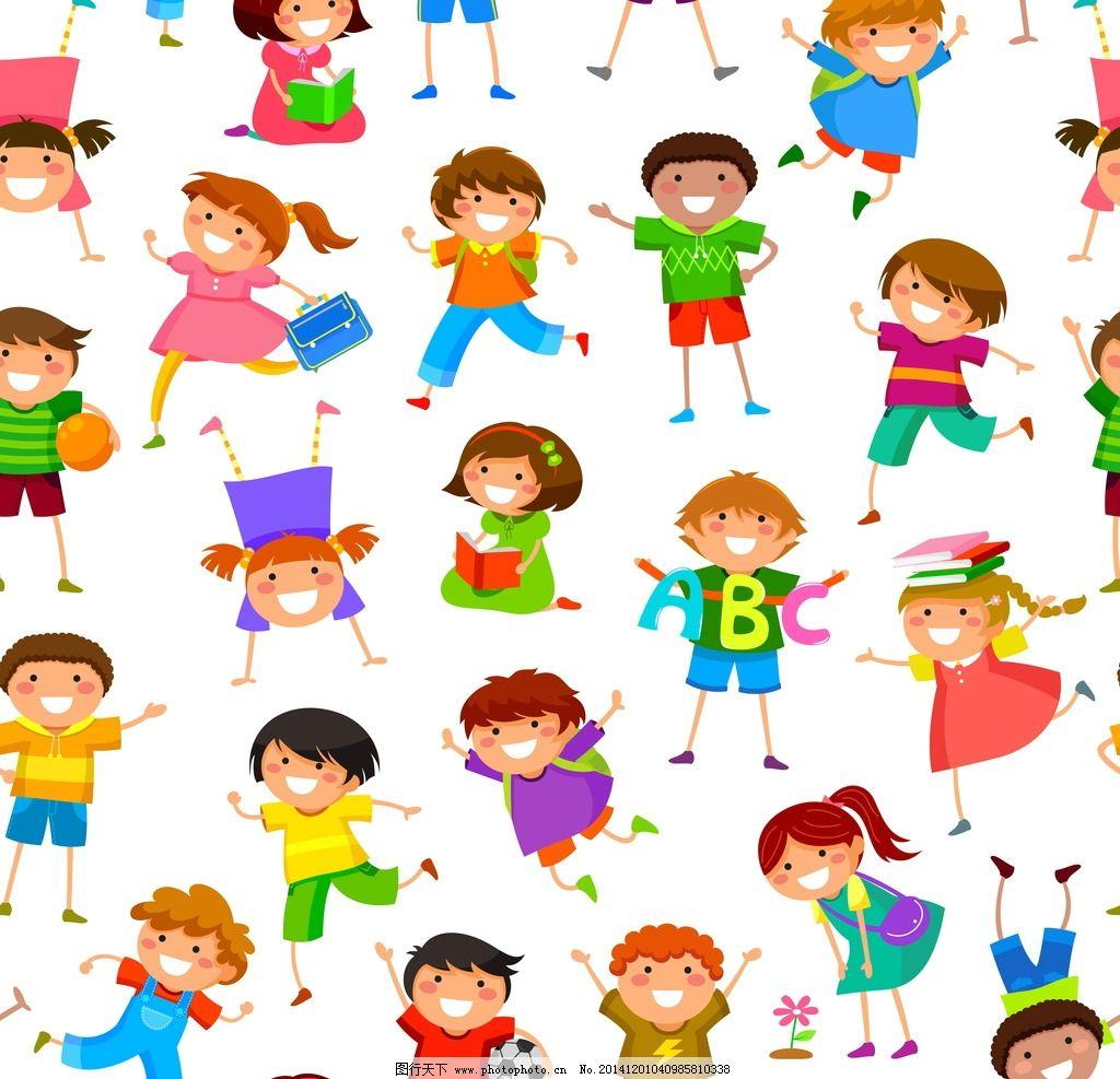 小学生 卡通插画 可爱素材 卡通儿童 矢量儿童 矢量 eps 设计 人物