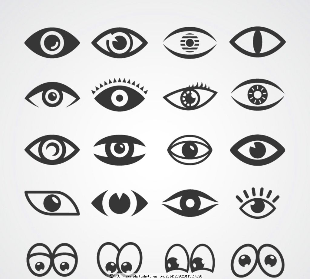 眼睛卡通 手绘眼镜 各种眼睛 简笔画 素描眼睛 设计 广告设计 卡通