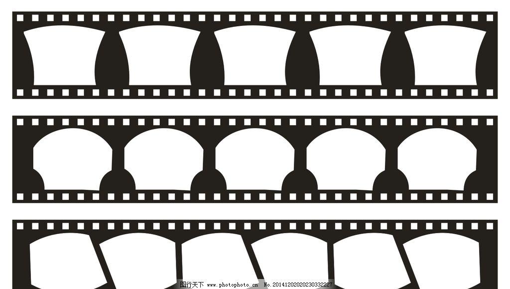 胶片排版模板 花纹边框 底纹 矢量图形 各种形状 胶片展板 长方形 正