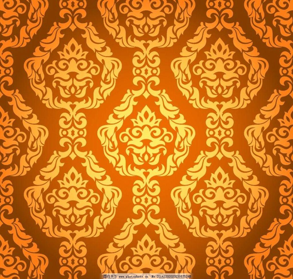 花纹背景 花纹图案 欧式花纹 金黄色花纹 植物花纹 装饰花纹 建筑花纹