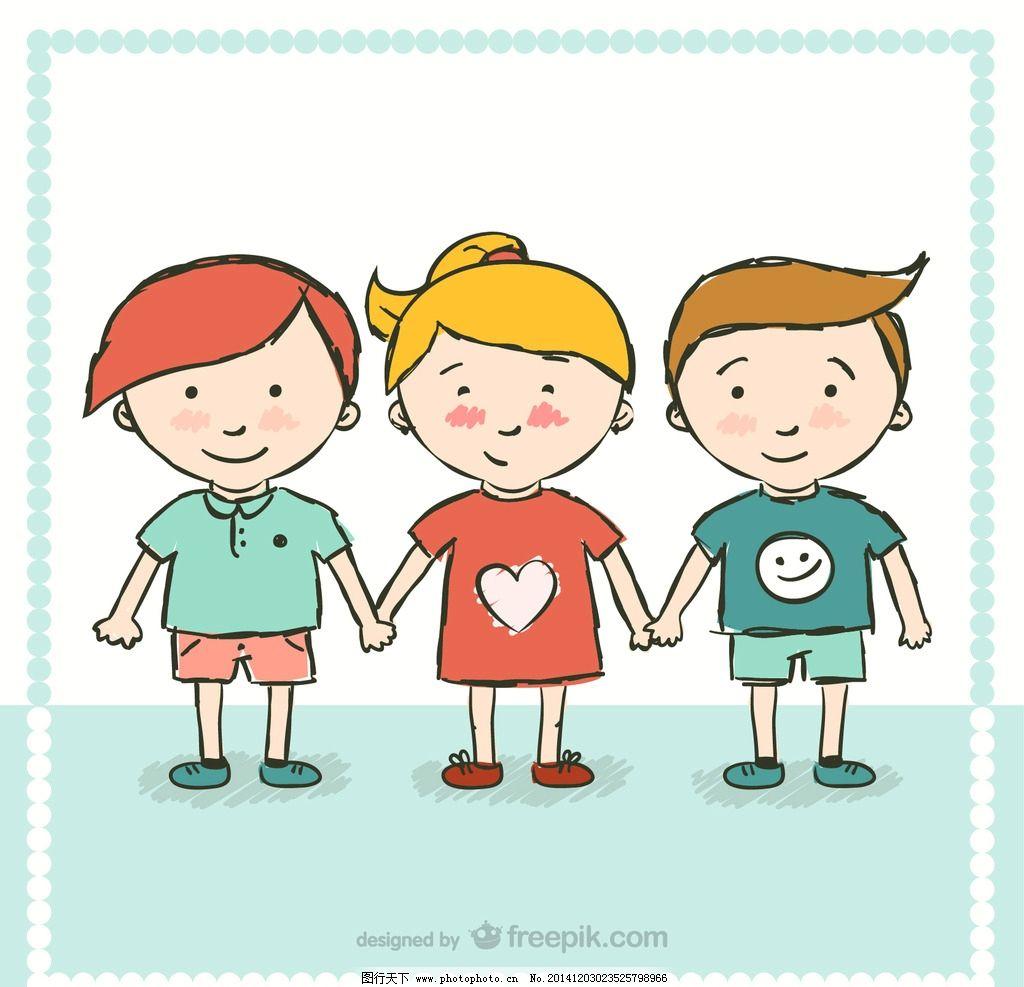可爱小孩 运动小孩 卡通 人物素材 人物模板  设计 人物图库 儿童幼儿